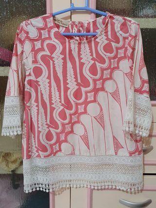 Batik Kultur Batik Pink Top
