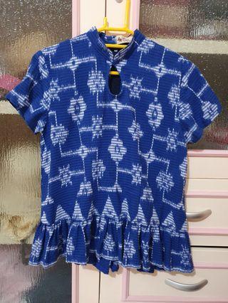 Batik Kultur Peplum Top