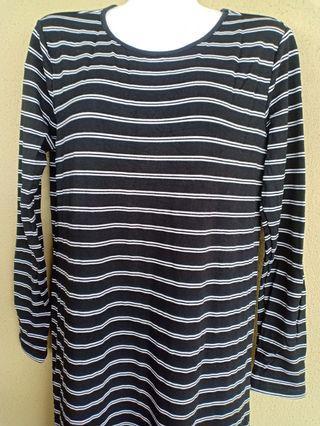 3/4 long stripe dress
