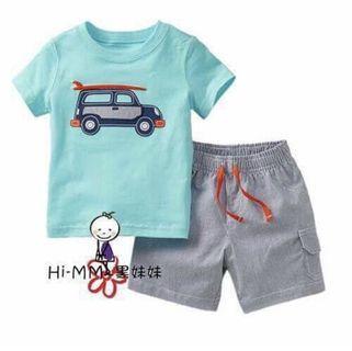 Setelan Baby Boy Mobil