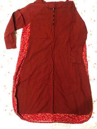 紅色民俗洋裝