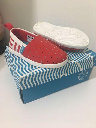 Native威尼斯懶人鞋小童(蘋果紅水手)C6