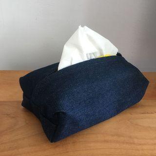 厚磅數丹寧牛仔衛生紙套
