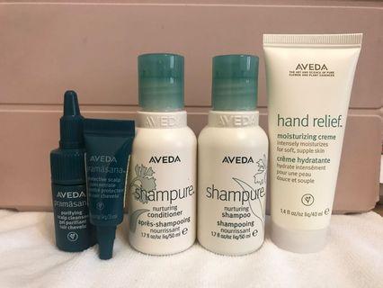 AVEDA 旅行頭髮四件組+護手乳