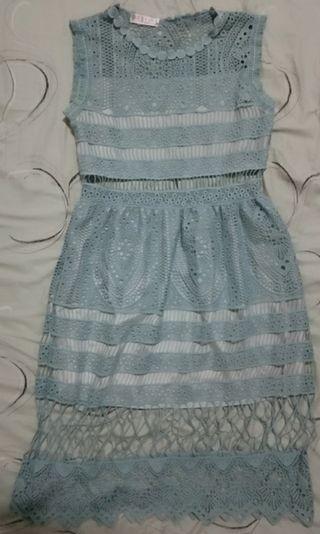 長洋裝  珊瑚藍 含運