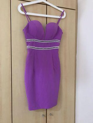 Lavender Lilac Dinner Dress