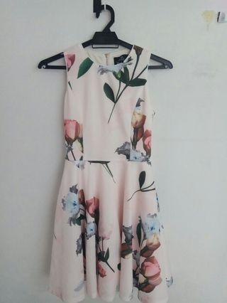DOUBLEWOOT Light Pink Floral Dress