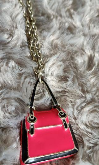 Long Necklace - Pink Bag