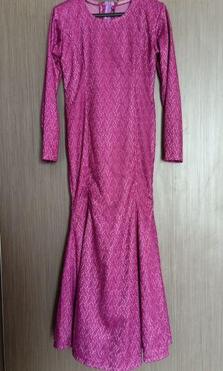 Long dress -  lace purple