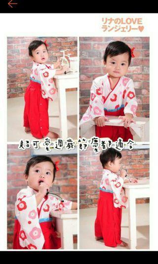 幼兒日式連身和服(80碼)週歲服 節慶服
