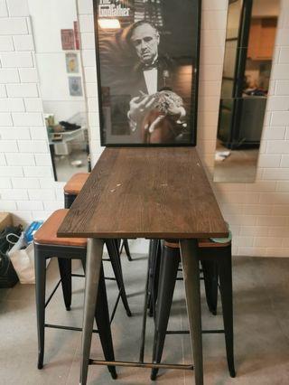High bar table and bar stool for sale