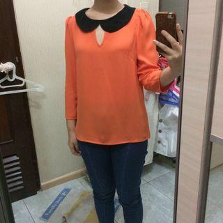 #1010flazz coco kelen orange blouse