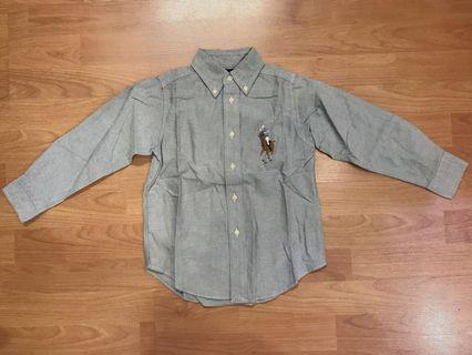 Grey Long Sleeve Shirt for Boys (with minor defect)