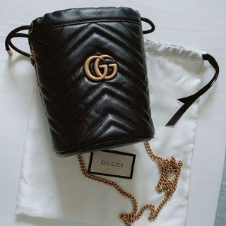 Gucci Marmont 迷你水桶包