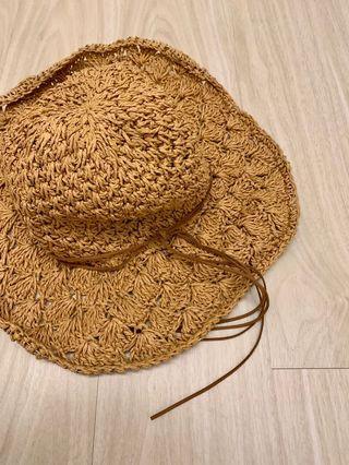 夏日海島必備 百搭編織草帽 棕色