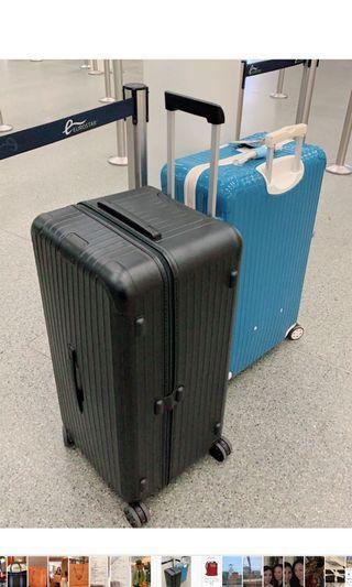 現貨在台 特價! 全新RIMOWA最新款Trunk Plus 四輪大型運動行李箱 霧面黑