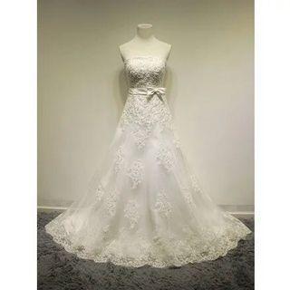 抹胸蕾絲綁帶婚紗