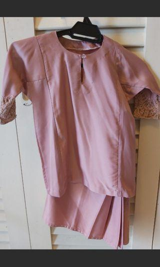 Kids Baju Kurung Dusty Pink