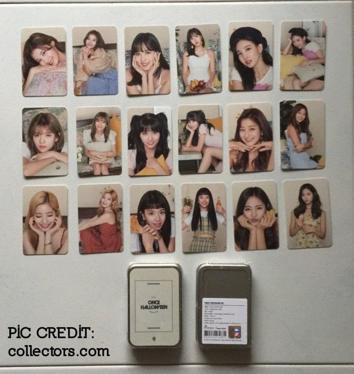2018 ONCE Halloween Tin Case TWICE Photocard Set - 18 pcs SEALED