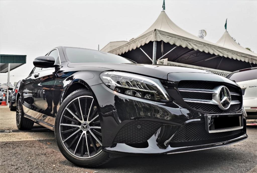 2019 Mercedes-Benz C200 1.5 Avantgarde Sedan NEW CAR MILEAGE Below 100KM ONLY!!! 4YEARS MERCEDES WARRANTY!!!
