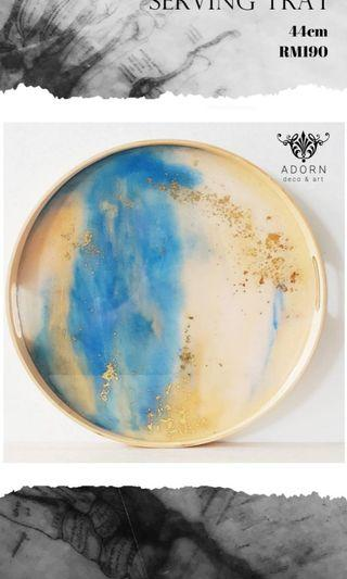 Luxury handpainted abstract serving tray