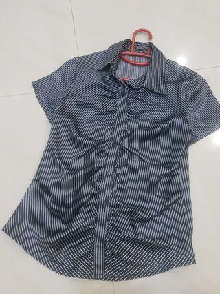 #18sale Woman Black with stripes Working Top