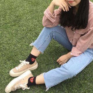 舒服慵懶粉格襯衫🌷