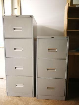 Office Filling Cabinet (Steel)-3 drawers+4 drawers (Combo Set)