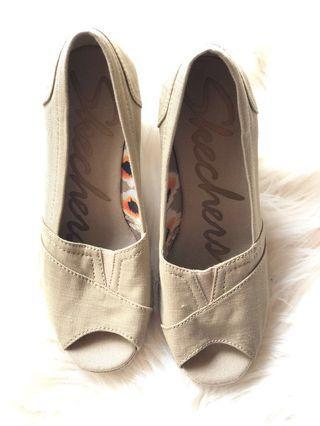 Skechers Cali Monarchs Women's Espadrille Wedges memory foam