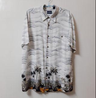 Regalo古著∣雲霧飄渺椰風高級絲質襯衫 短袖襯衫