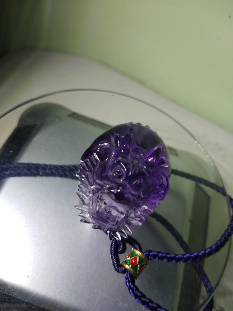 寬26咪、高38.8咪烏拉圭紫水晶龍龜