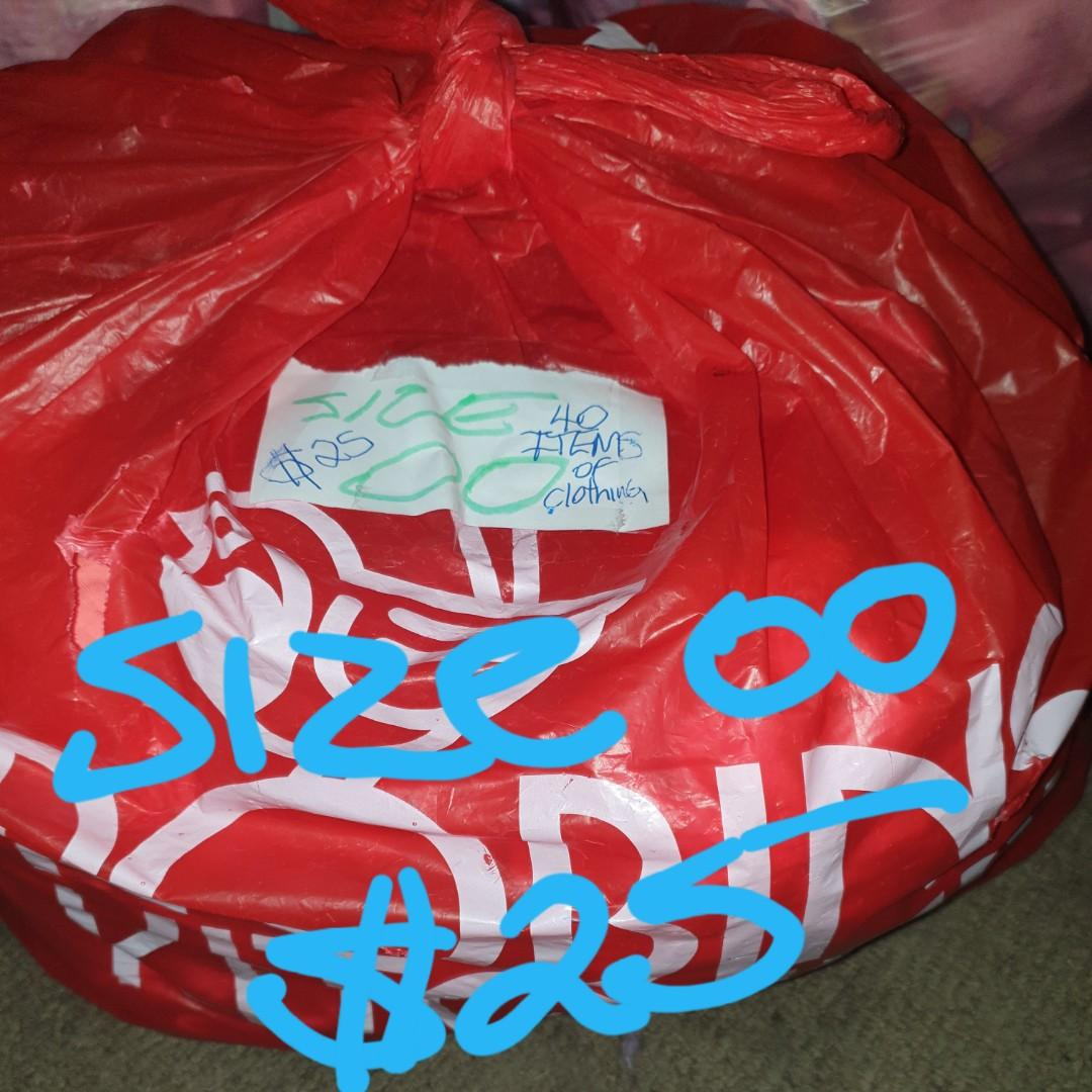 2 large bags of girls clothes all gc selling $25for each bag