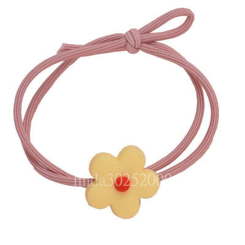 撞色小花造型可愛甜美花朵髮束(5入)