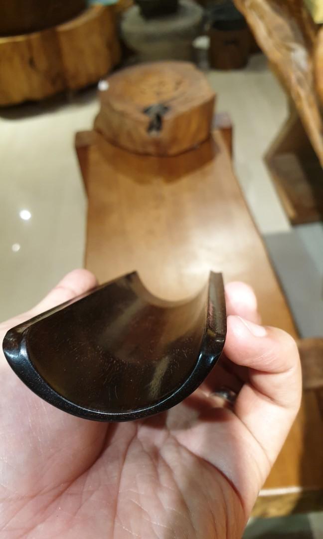 金星紫檀茶則-皮殼漂亮 尺寸17x5.7x2