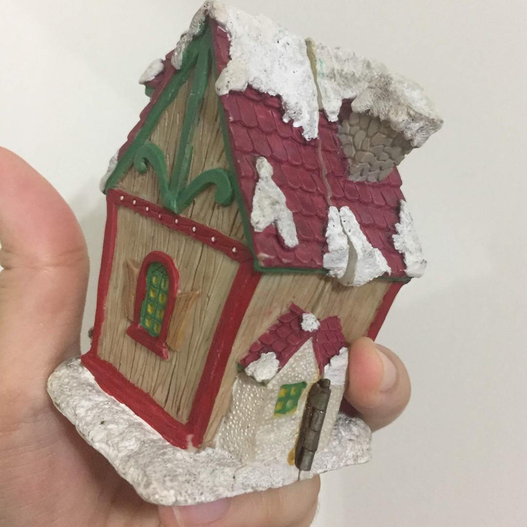 歐式 陶瓷 瓷器 精品 裝飾 收藏 藝術品 聖誕小木屋