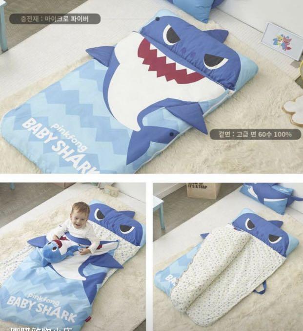 韓國直送🇰🇷 Baby Shark Pink Fong 小童防踢拉鍊被袋🌟 限時優惠只售$800👍🏻