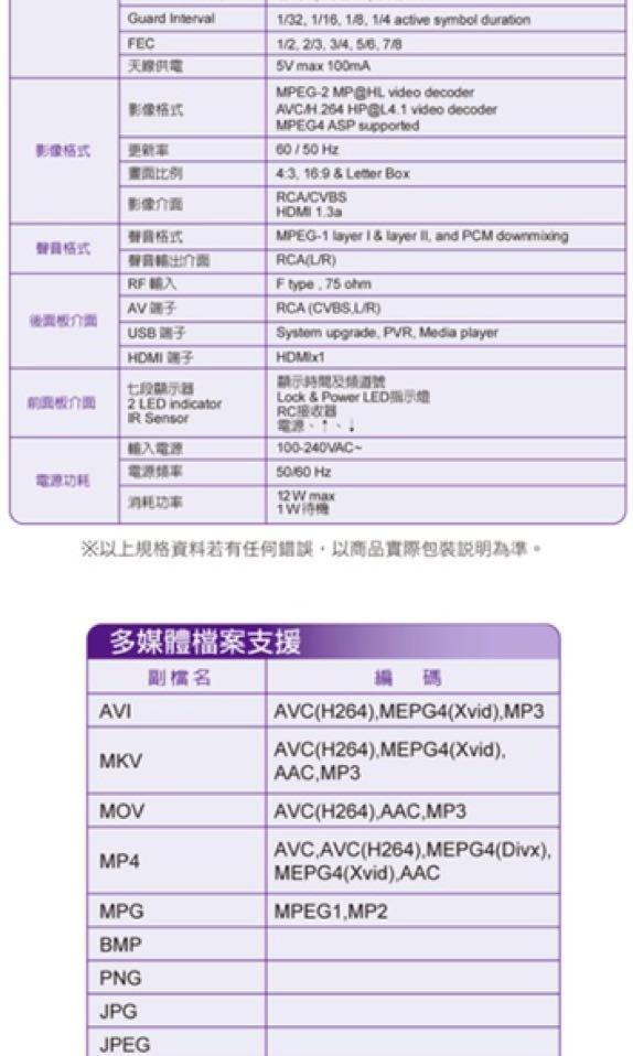 大通 PX (HD-8000數位機上盒 )(無盒)