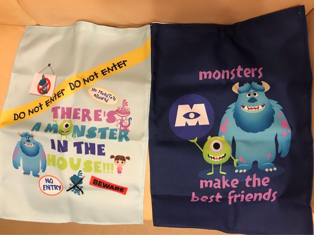(全套 3款)Disney Pixar掛簾(ToyStory4, MonsterInc, FindingNemo)