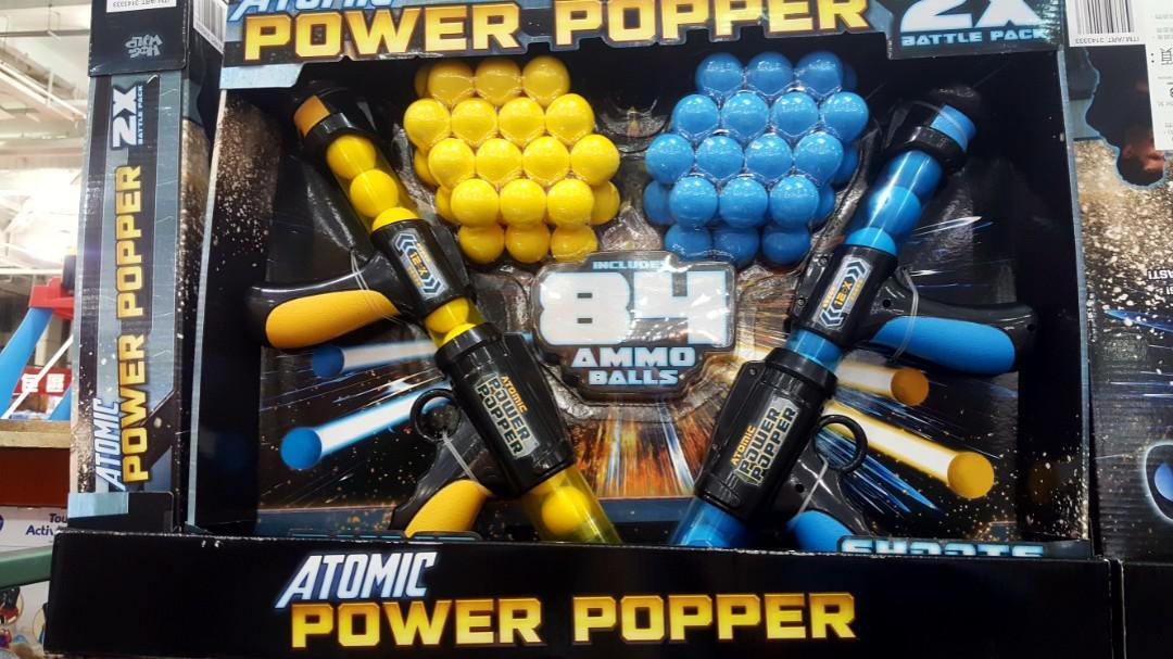 ATOMIC 原子雙人對戰槍 適合5歲以上 玩具槍 安全泡棉球 通過國家安全檢驗-吉兒好市多COSTCO代購