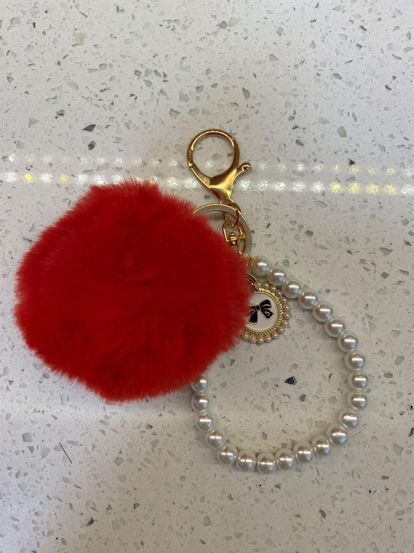 Bag Charm - Black/Red