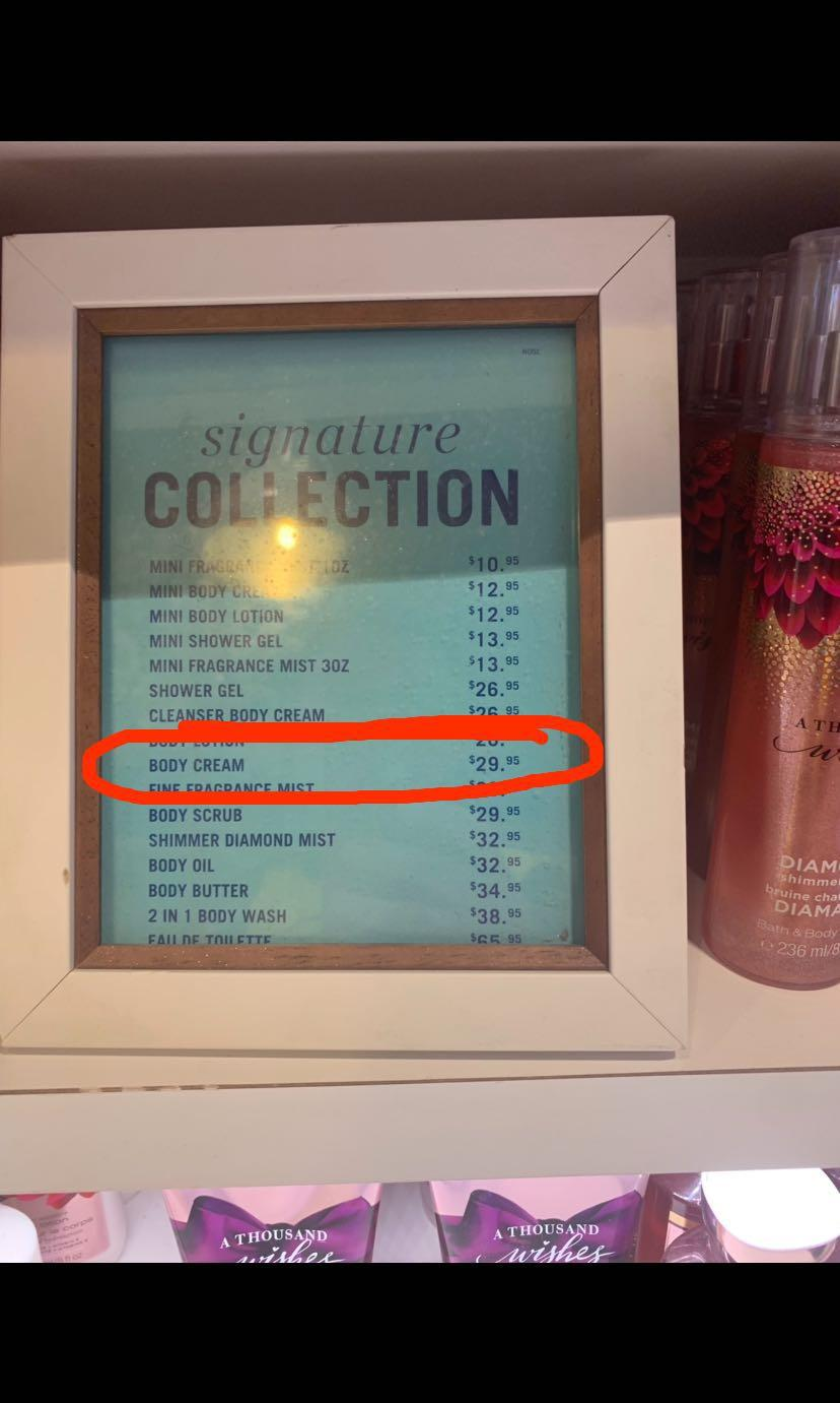 Bath and Body Works -Warm Vanilla Sugar Body Cream