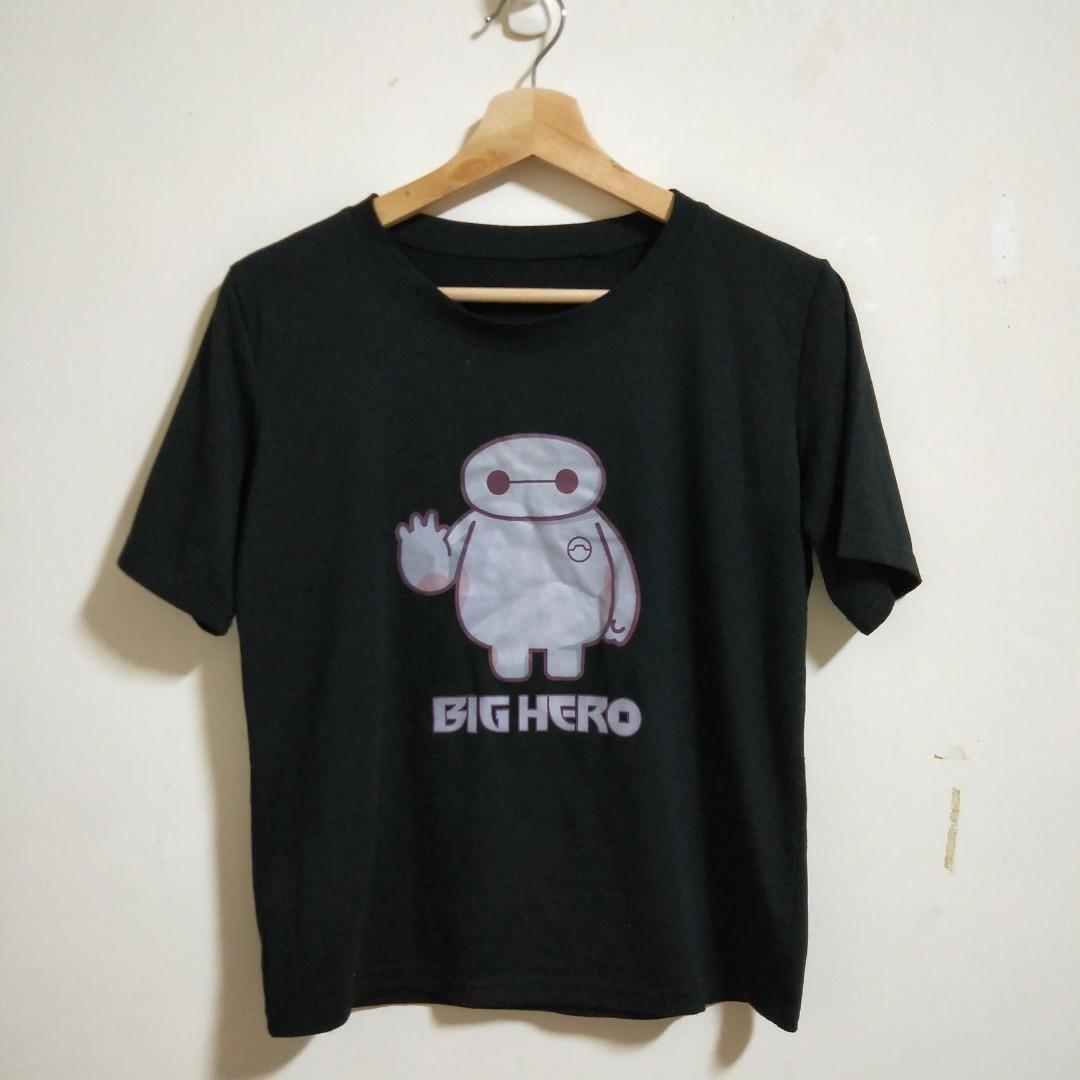 二手//大英雄天團/BIGHERO T恤 T-shirt 黑