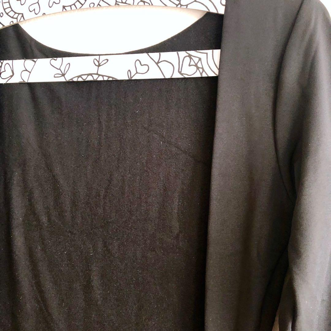 Brand new elegant evening dress black side splits and bare back