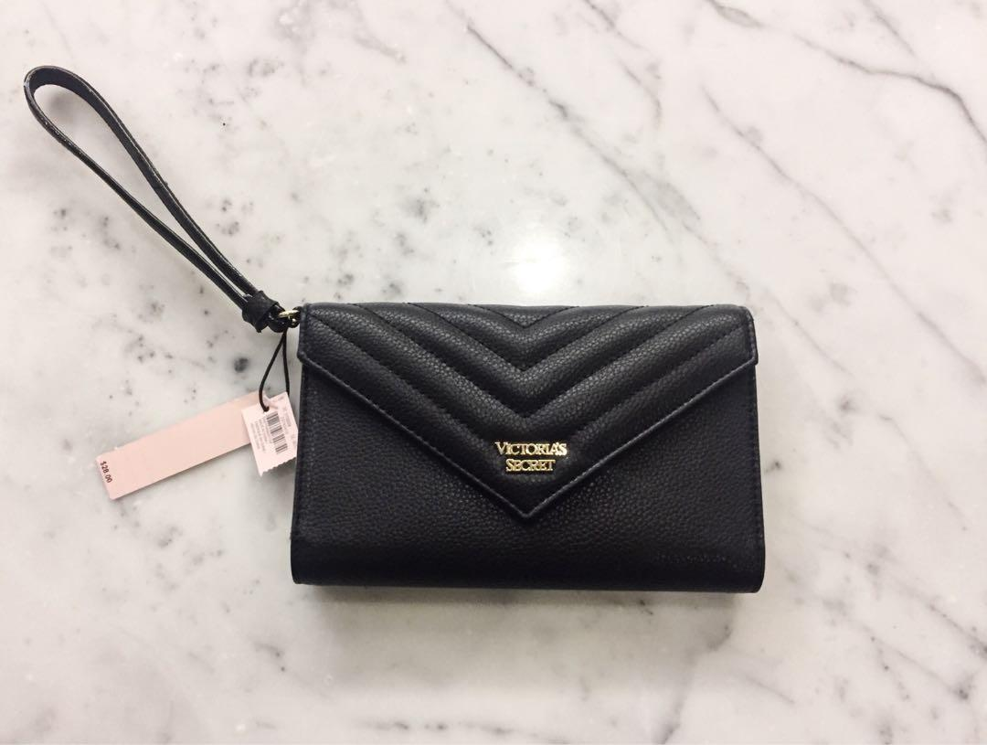 BRAND NEW WITH TAGS black victoria's secret clutch!!