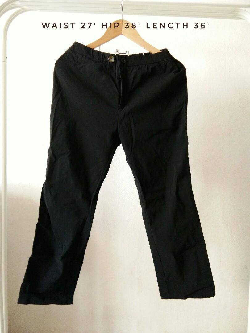 cotton straightcut pants
