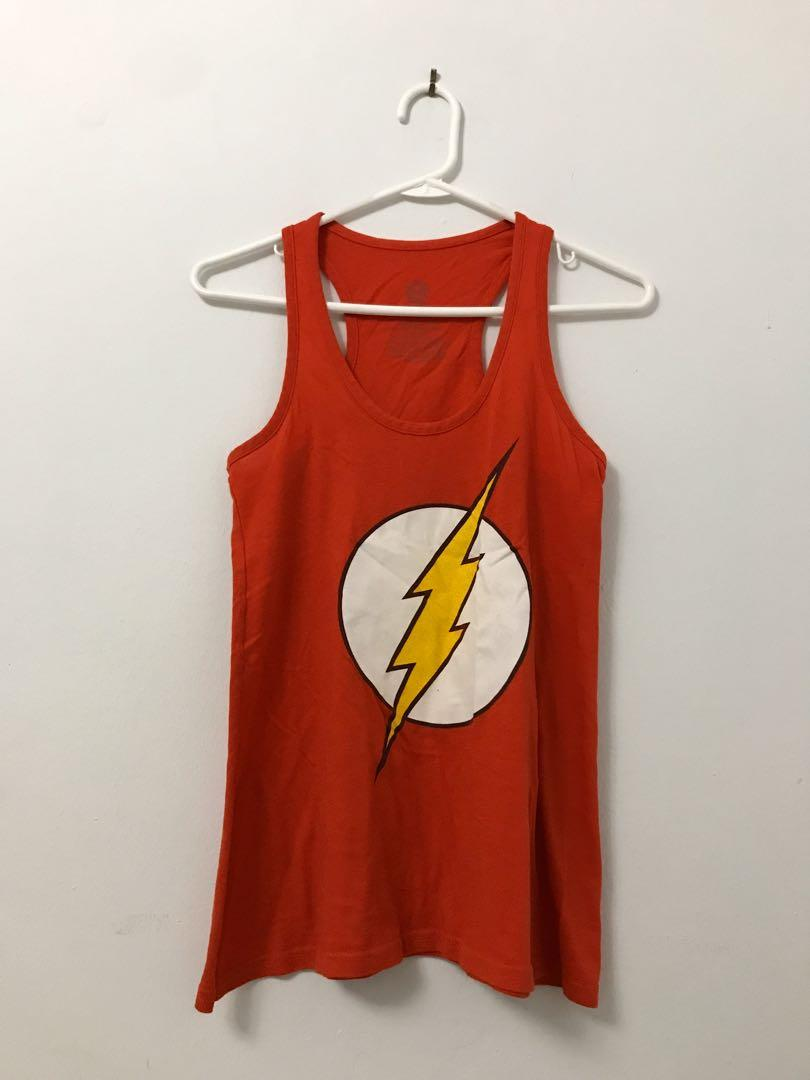 DC COMICS ORIGINALS Red The Flash Tank Top - SMALL