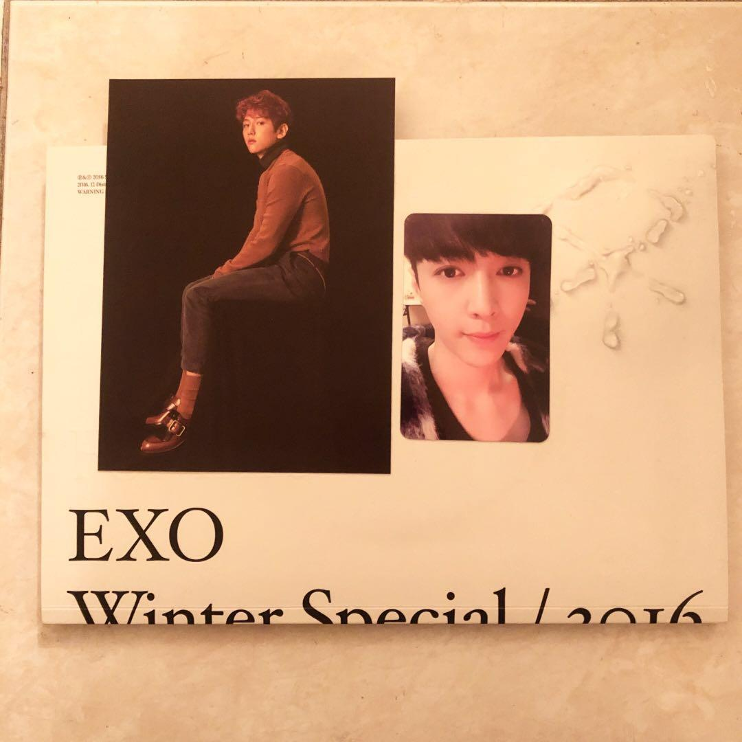 EXO FOR LIFE ALBUM WINTER SPECIAL 2016 + BAEKHYUN POSTCARD + LAY/YIXING PHOTOCARD