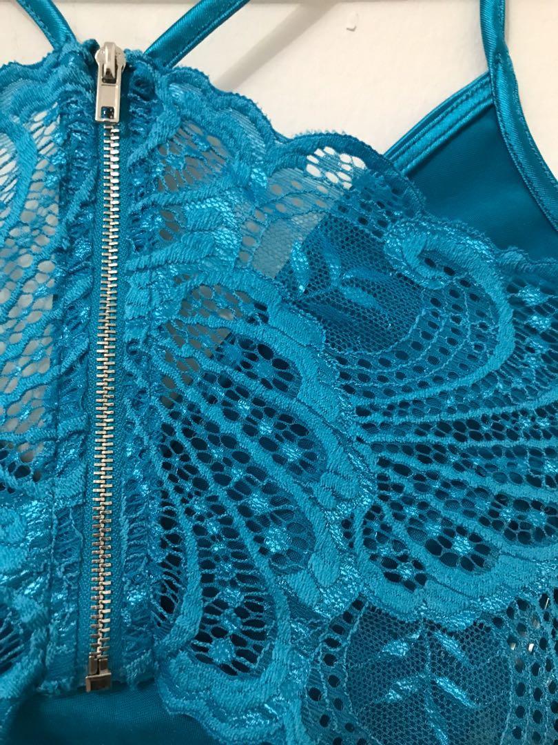 FASHIONNOVA Turquoise Starlight Beauty Dress - X-SMALL