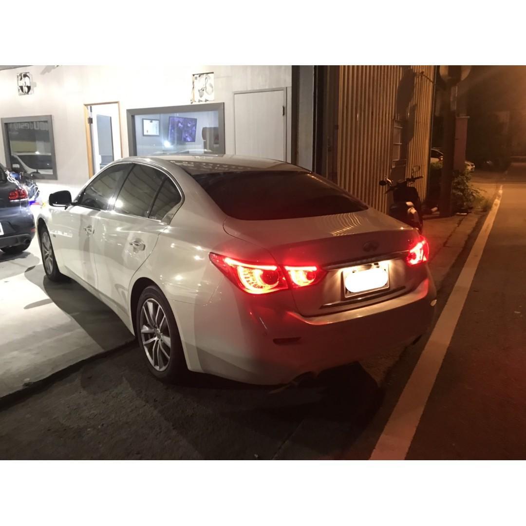 【FB搜尋桃園阿承】極致 超人氣Q50跑4萬 2016年 2.0 白色 二手車 中古車