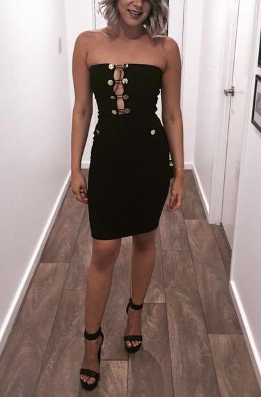 Fitted cocktail dress - size 8